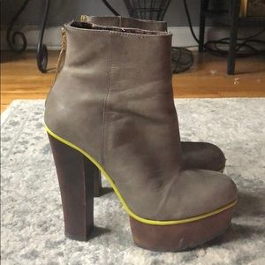 Edgy Platform Booties by Betsey Johnson